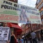 Protest in London in solidarity with Palestinian prisoners, August 18.