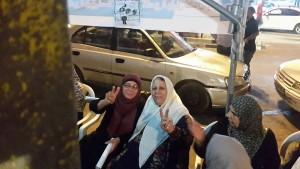 Layla (Um Samer) Issawi and Malika (Um Nidal) Abu Aker, mothers of Palestinian prisoners