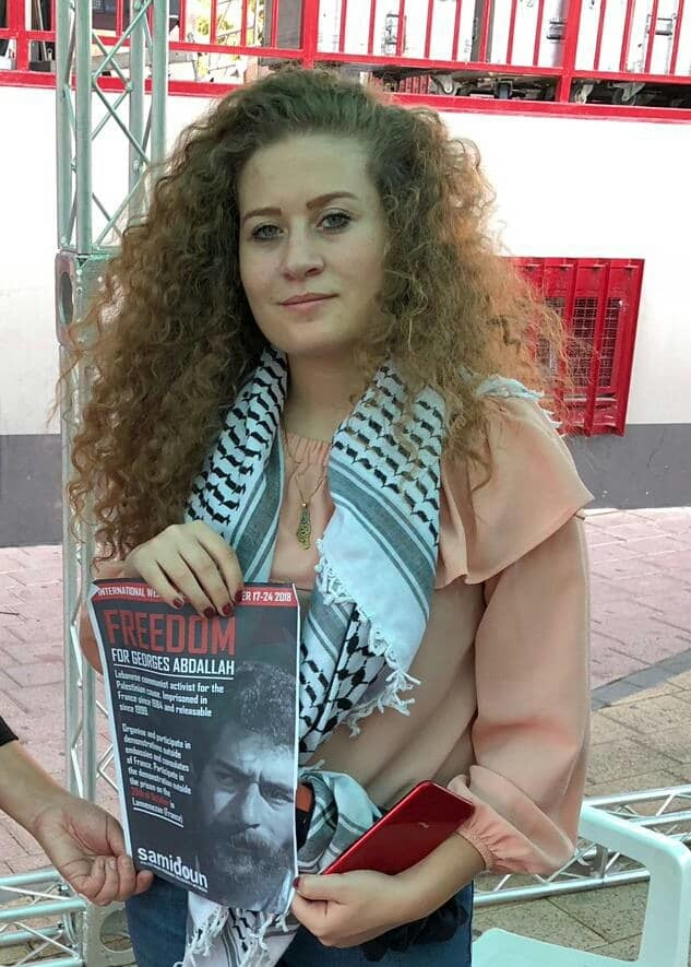 Samidoun Joins Ahed Tamimi in Spain to Urge Action to Free