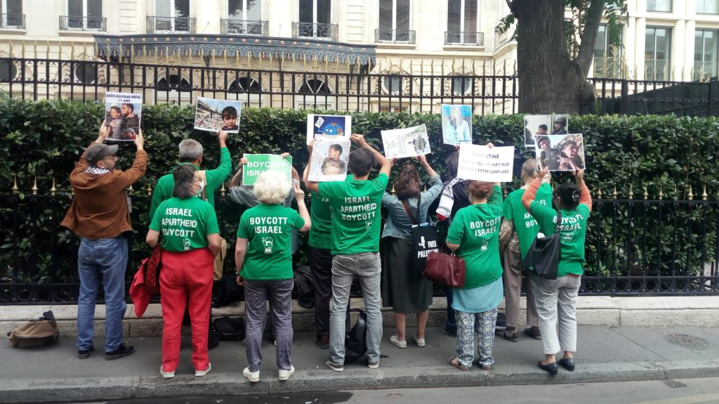 Paris protest supports Humboldt 3 BDS activists facing prosecution in Berlin
